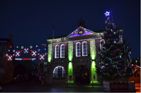 The Melksham Christmas Lights Group received a large grant in 2017 which helped to fund the incredible displays across the town