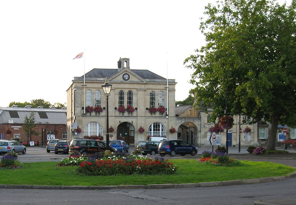 The Market Place and Melksham Town Hall